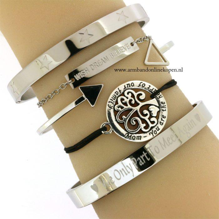Raising Stars Bangle Bracelet Silver