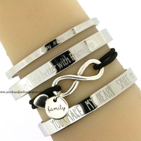 bff armband eigen tekst life is better with friends