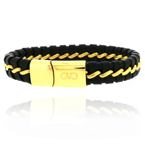 mannen armband staal goud