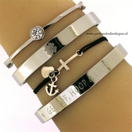 Geloof Hoop en Liefde Armbandje Zilver Online Kopen