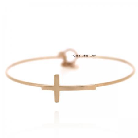 armband staal kruis believe in yourself