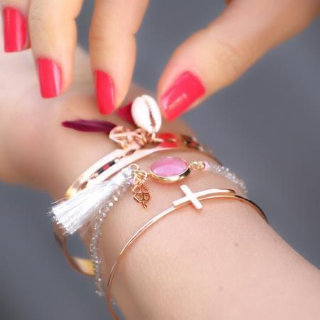 armbanden met schelp bohemiam stijl en kruis bangle