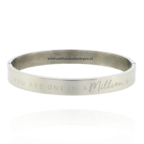 armband staal met quote you are one in a million zi