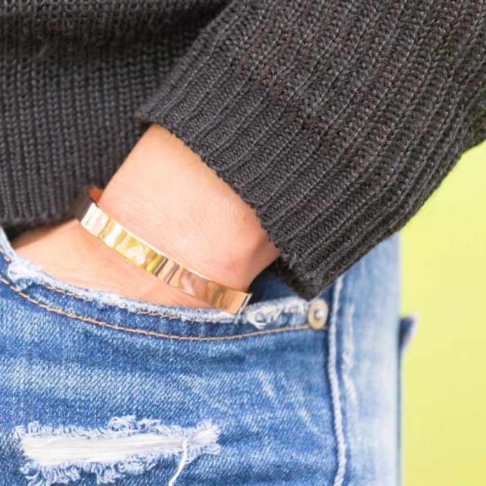 GVO armband met hart van staal rose goud