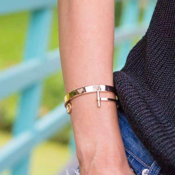 armband met hart staal rose goud