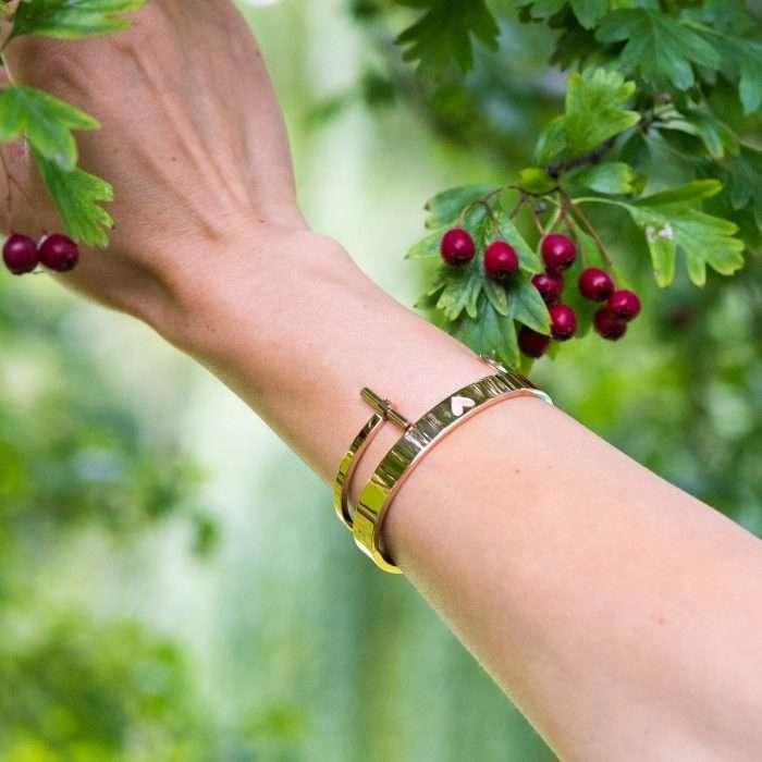 armband met hart van staal rose goud