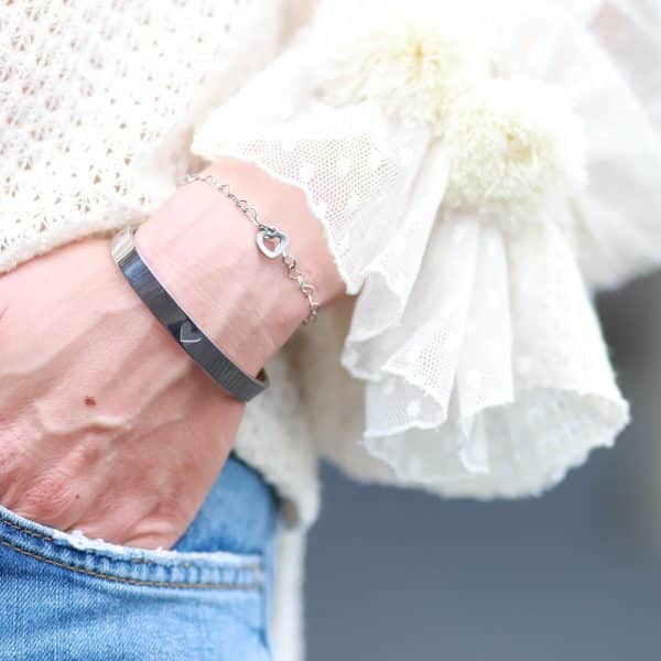 armband staal hartjes
