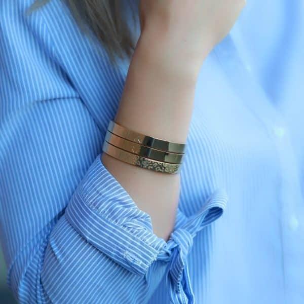 armbanden van staal goud zilver rose goud