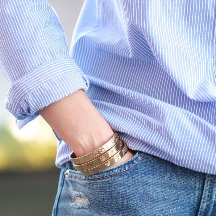 stalen armbanden panterprint goud online kopen