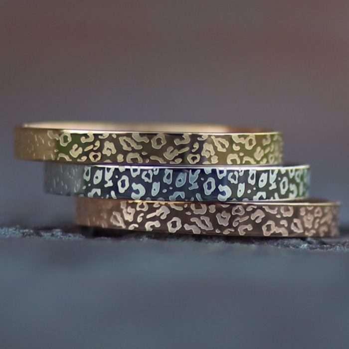 stalen armbanden panterprint zilver goud rose goud