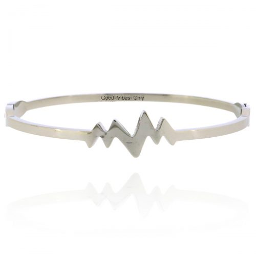 Good Vibes Only hartslag armband zilver