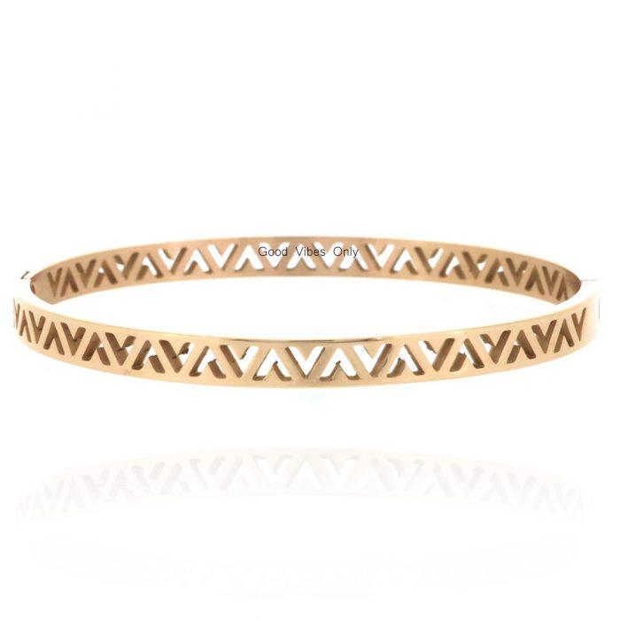 armbanden v vorm roestvrij staal rose goud