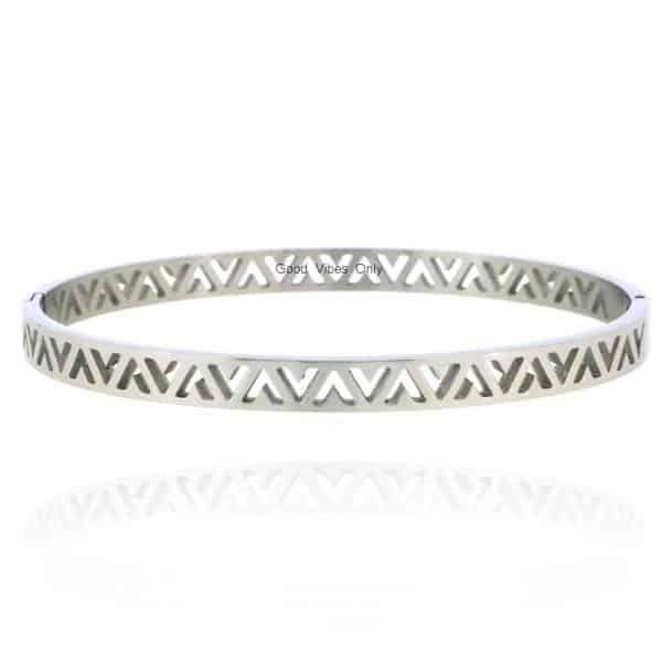 armbanden v vorm roestvrij staal zilver