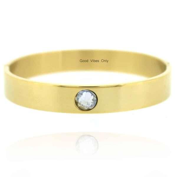 Geboortesteen Armband April Diamant Goud