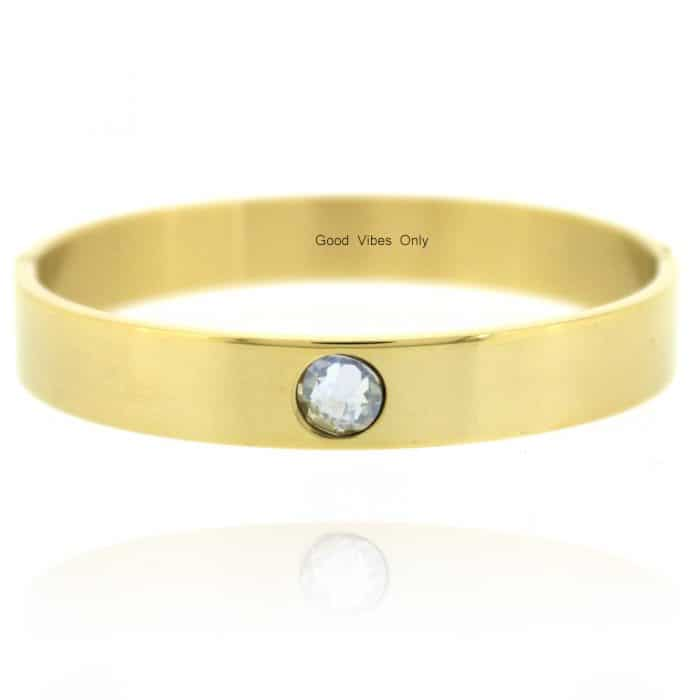 Geboortesteen Armband April Diamant Goud