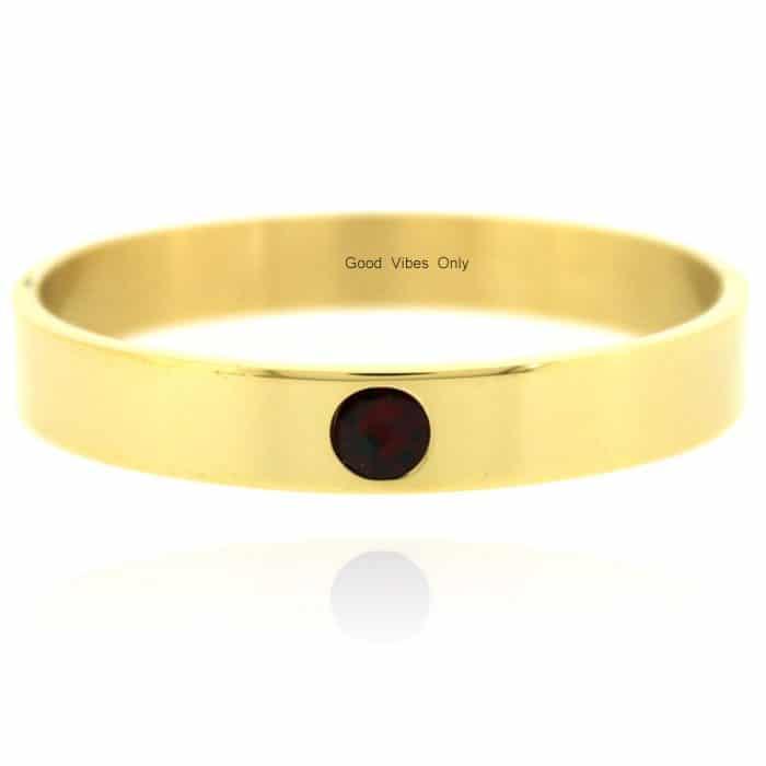 Geboortesteen Armband Januari Granaat Goud