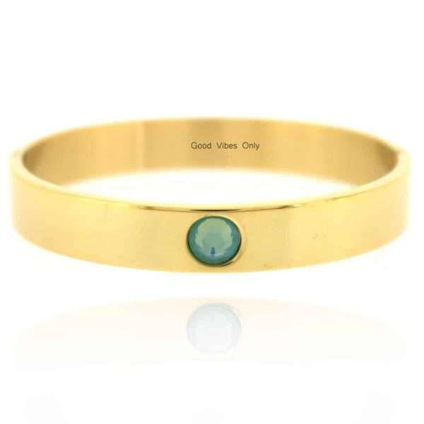 Geboortesteen Armband Maart Aquamarijn Goud