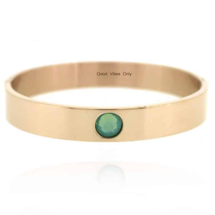 Geboortesteen Armband Maart Aquamarijn Rose Goud