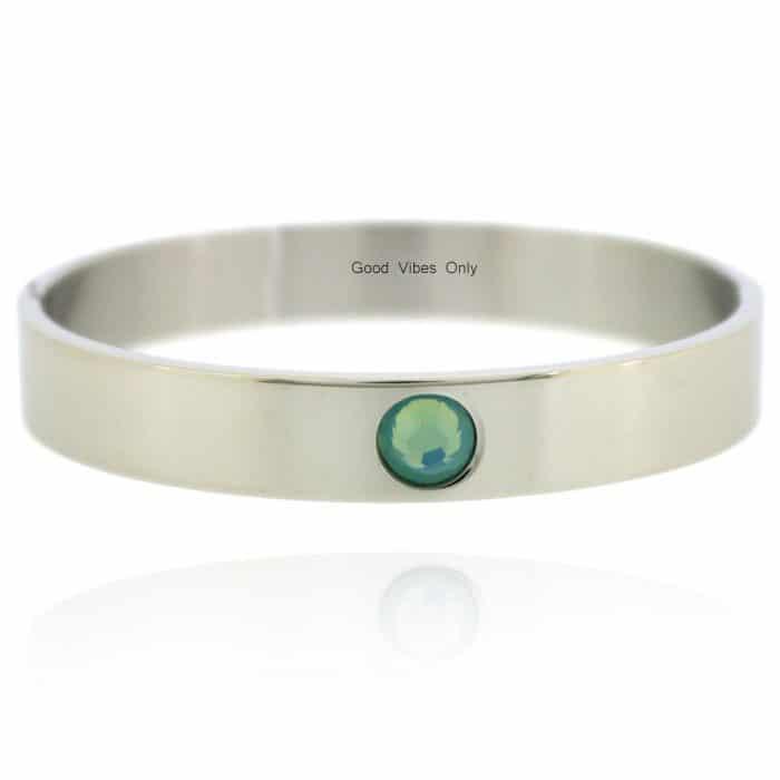 Geboortesteen Armband Maart Aquamarijn Zilver