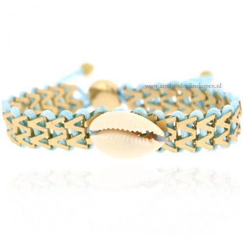 Ibiza Armbandje met Schelpje Mint