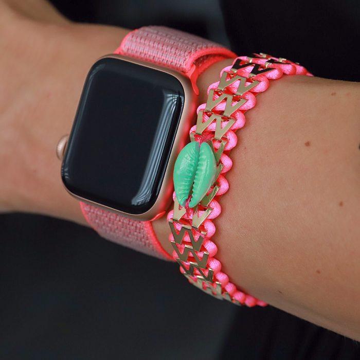Ibiza Armbandje met Schelpje Roze