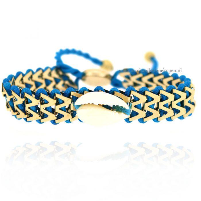 Ibiza Armbandje met Schelpje Turquoise
