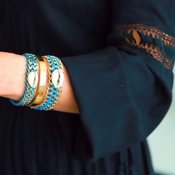 Ibiza Armband met Schelp Turquoise