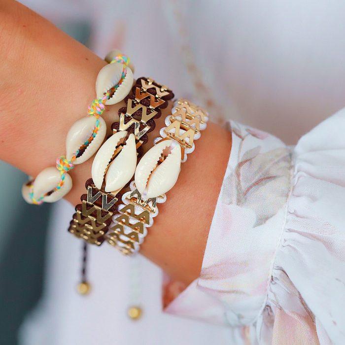 Ibiza Armbandje met Schelpje Wit