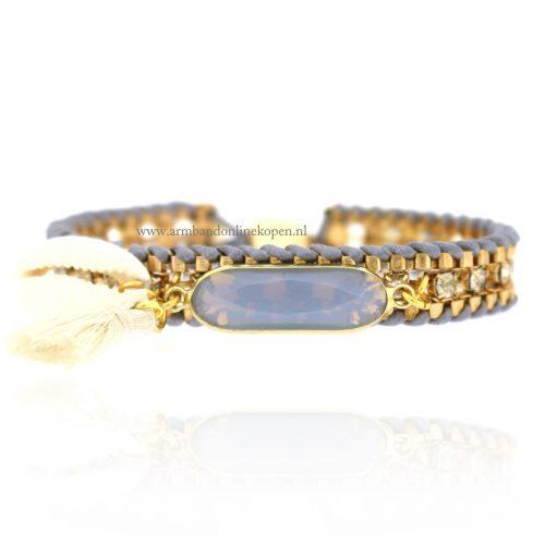 Ibiza Shimmering Strass Bracelet Grey