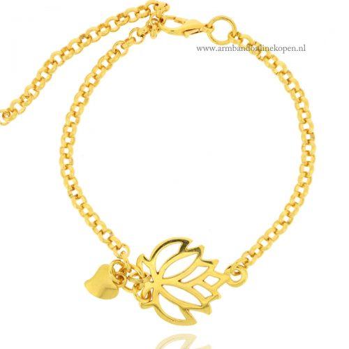Lostusbloem Armband Goud