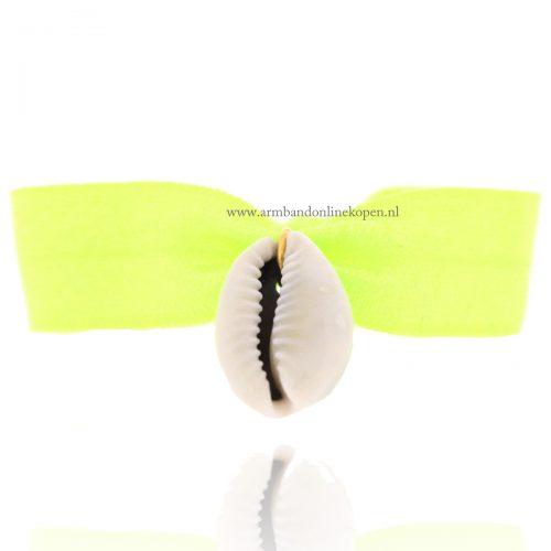 Schelp Armbandje Neon Groen
