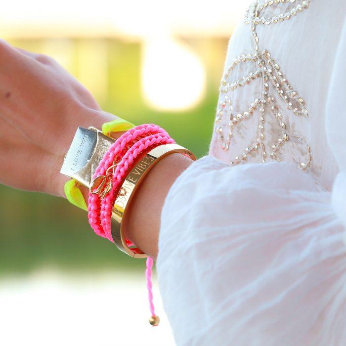 armband love neon kleurtjes