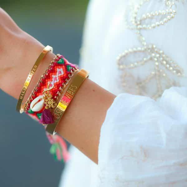 boho ibiza armbanden met bedels en schelpen