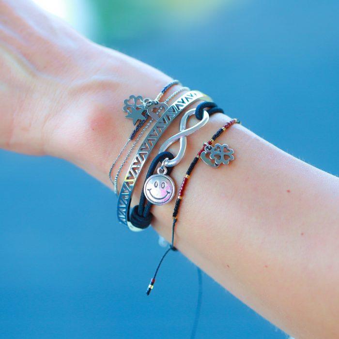 elastieken armbanden infinity smily
