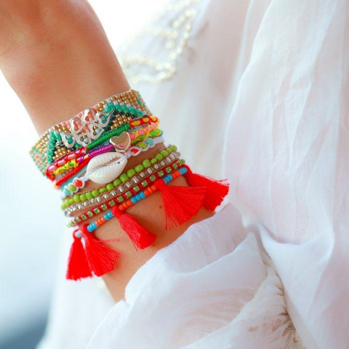ibiza armband love bedels