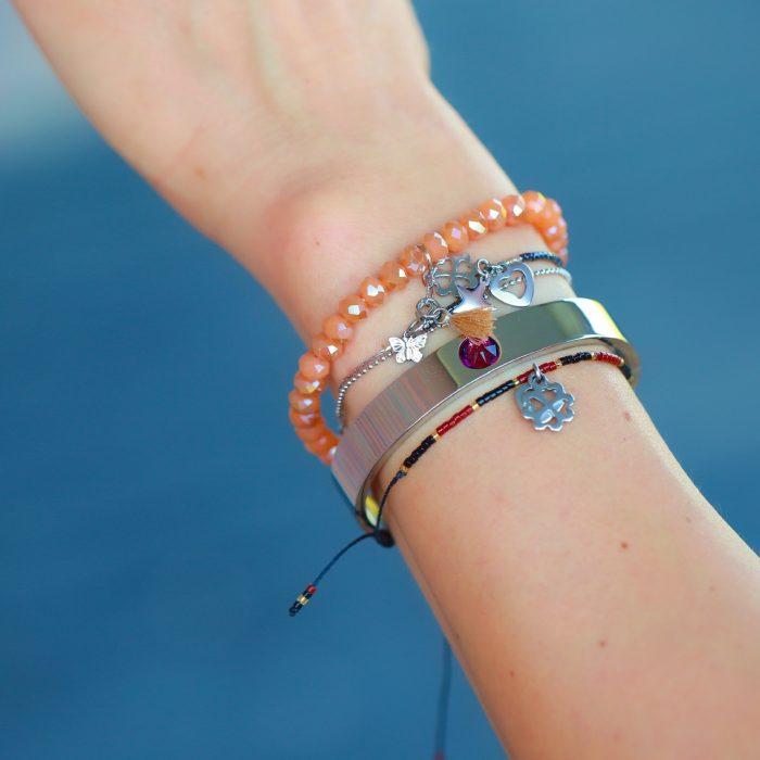 vlindertje schattige armbanden facet kralen