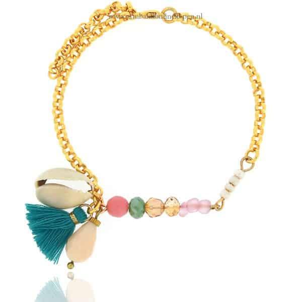 kraaltjes armbandje goud met schelp