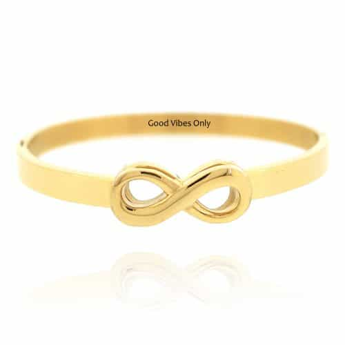 Infinity Armband Staal Goud
