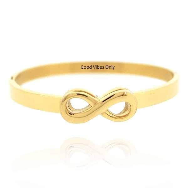Infinity Armband Staal Goud