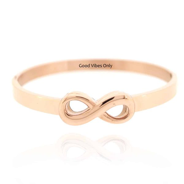 Infinity Armband Staal Rose Goud