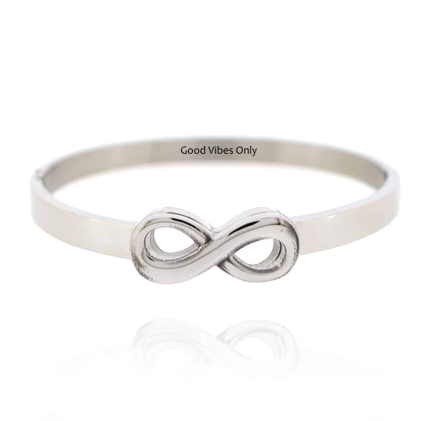 Infinity Armband Staal Zilver