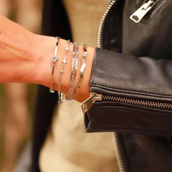 roestvrij staal dames armbandje geloof in de liefde
