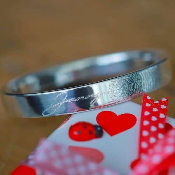 925 zilver Armbanden met vingerafdruk