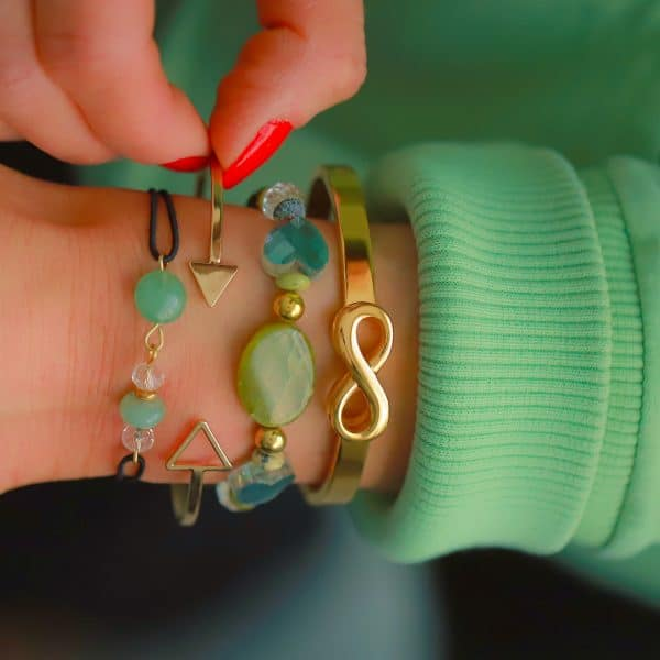 mix en match armbandje jade steen