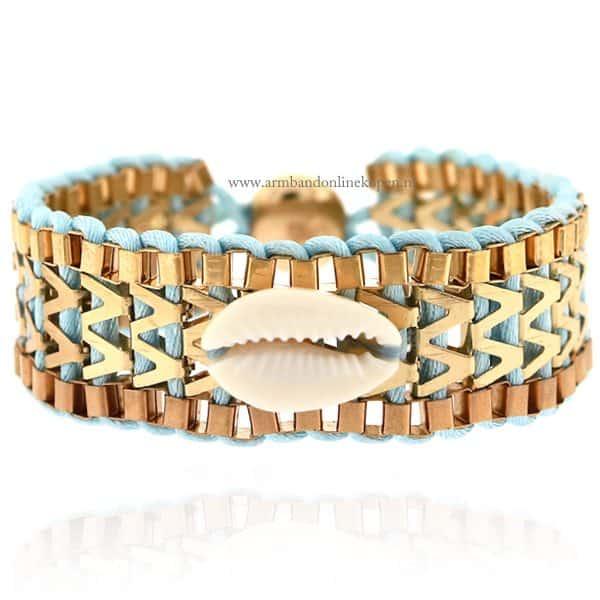 Ibiza Armband met Schelpje Mint