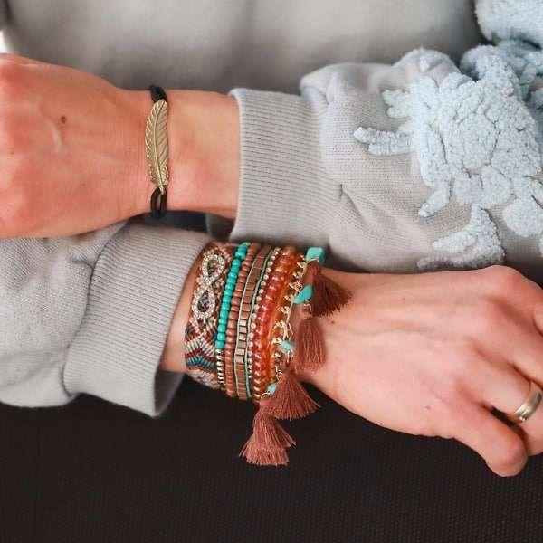boho ibiza armband glinsterende steentjes infinity symbool