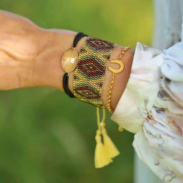 geluks armbandje goud hoefijzer bedel