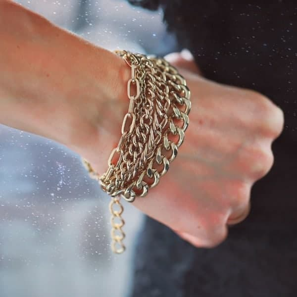 Chunky Schakels armband armparty goud