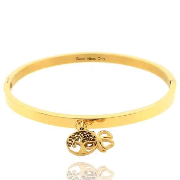 Geluk in het Leven Armband Goud