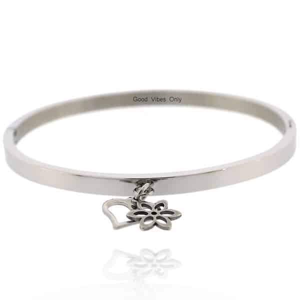 Il Fiore dell'Amore by Good Vibes Only Armband Staal